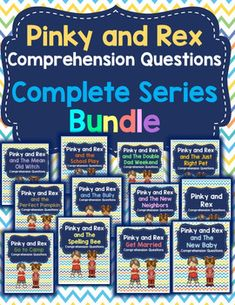 This is a bundle of my 12 Pinky and Rex comprehension products. It includes all 12 of James Howe's Pinky and Rex books. For each Pinky and Rex book, there are comprehension questions for each chapter and a full answer key.All of the Pinky and Rex books are a guided reading level L.Check out all of the individual products included in this bundle:Pinky and RexPinky and Rex and the Double Dad WeekendPinky and Rex and the BullyPinky and Rex and the New BabyPinky and Rex and the New…