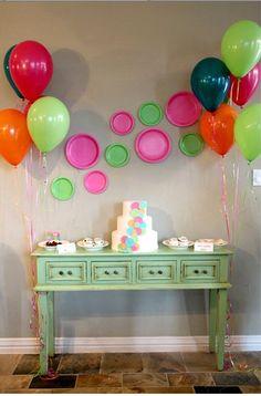 Polka Dot Party - Plate display on wall