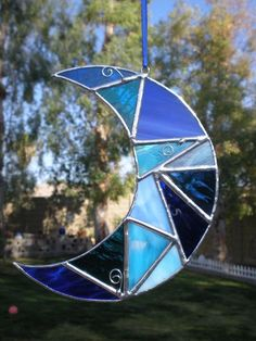 Stained Glass Moon by DesertGirlGlass on Etsy, $23.00