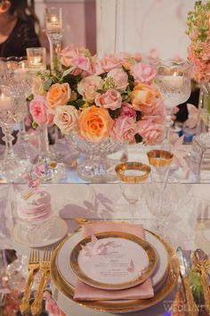 WedLuxe– The WedLuxe Wedding Show 2015: The Parisian Cherry Blossom Garden | Photography By: Elizabeth in Love Follow @WedLuxe for more wedding inspiration!