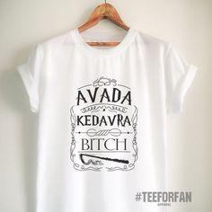 Harry Potter Shirts Harry Potter Merchandise Avada Kedavra T Shirts Clothes Apparel Top Tee for Women Girls Men