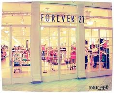 Forever 21, i can literally spend HOURS in here!! i shit you not.
