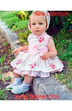 Vestido de bebé niña sin mangas rosa Dolce Petit