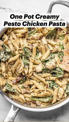 Easy Pasta Recipes, Chicken Recipes, Cooking Recipes, Healthy Recipes, Easy Pasta Dinners, Delicious Pasta Recipes, Herb Pasta Recipe, Easy Family Recipes, Easy Chicken Meals