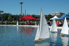 South Lake Union Park, downtown Seattle - great for model boat racing.