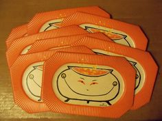 8 Vintage Halloween Party Paper Plates Hallmark Bubbling Smiling Cauldron Unused