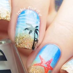 fashionable nail art ideas for summer 2016
