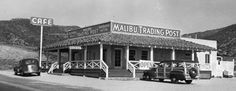 Postcard,Malibu Trading Post,Roosevelt Highway,Trancas,Malibu,California.