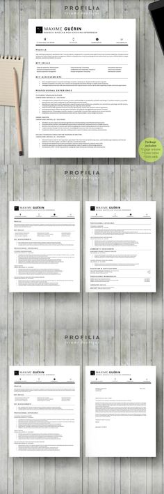 Word Resume \ Cover letter Template Resume Templates Pinterest - professional resume cover letter template