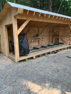 The Woodland Mills portable sawmill offers sawyers a well engineered, easy to use bandsaw mill that can cut logs up to 26 inches in diameter into dimensional lumber for an affordable price. Lumber Mill, Wood Mill, Rustic Backyard, Backyard Sheds, Barn Plans, Shed Plans, Homemade Bandsaw Mill, Portable Saw Mill, Greenhouse Shed