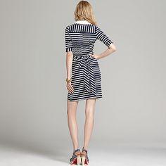 3/4 Sleeve Striped Wrap Dress | Tommy Hilfiger USA