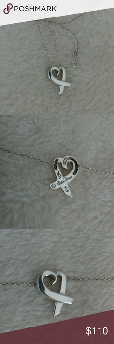 "Tiffany & Co Loving Heart Necklace 18"" Authentic and just a cool looking heart. A sought after length at 18"" instead of the normal 16"". The roll chain is attached to the heart. The heart looks to be 1/2"" x 1/2"".  Well cared for. Bag is not included. This beautiful heart from Paloma Piccaso reflects the bold sophistication of her European designs. Tiffany & Co. Jewelry Necklaces"