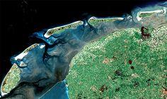 Waddenzee satellite photo.