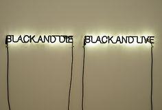 Glenn Ligon Excerpt, 2009 neon and black paint x inches x 141 cm) Ed. of 5 African American Art, American Artists, Glenn Ligon, Harlem Renaissance Artists, Cultural Artifact, Lights Artist, Jasper Johns, Neon Glow, Black Artists