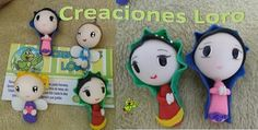 "Virgencita plis and Angel in polymer clay. Follow as ""Creaciones Loro"""