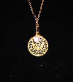 chi omega crest charm necklace.