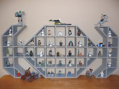 Star Wars TIE Fighter Children's Wood Display for all their lego minifigures by giftzbydavid, via Etsy.