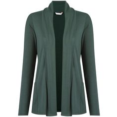 Lygia & Nanny Pocket Cardigan (6,350 INR) ❤ liked on Polyvore featuring tops, cardigans, green top, green cardigan, cardigan top, pocket cardigan and cotton cardigan
