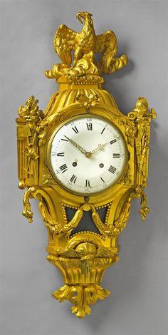 A Parisian Louis XVI ormolu cartel clock - Lot 752 Antique Wall Clocks, Wall Clock Wooden, Harry Potter Clock, Grandmother Clock, Wall Clock Online, Wall Clock Design, Louis Xvi, White Enamel, Parisian