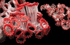 One of the science-inspired bead sculptures by Natasha St. Michel (SuperNat)
