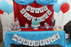 Dessert table at a Minnie Mouse birthday party! See more party planning ideas at CatchMyParty.com!