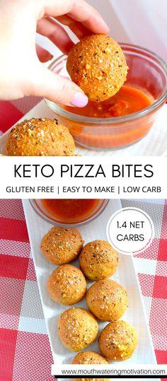 Healthy Low Carb Recipes, Keto Recipes, Cooking Recipes, Bariatric Recipes, Recipes Dinner, Low Carb Pizza, Low Carb Diet, Comida Keto, Pizza Bites