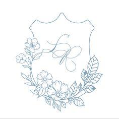 Monogram Wedding, Floral Wedding, Wedding Flowers, Dusty Blue Weddings, Blue Wedding Invitations, Weddingideas, Wedding Planning, Wedding Decorations, Wedding Inspiration