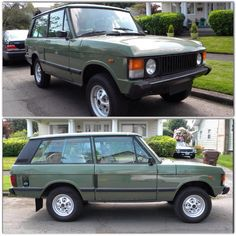 70s Range Rover Classic Coupe. Green Land Rover