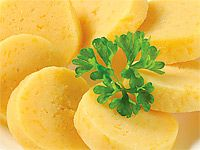 Bramborové knedlíky z brambor syrových, vařených; z cuket; getzn