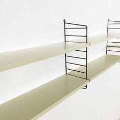 String Wall Unit | Nisse Strinning String regal | made in sweden | danish modern | elm wood | wall unit shelve system Ladder shelf