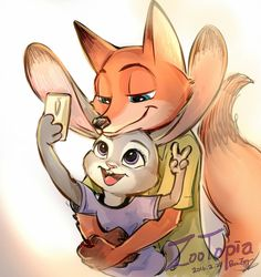 judy hopps & Nick wilde — Today I went out to play with Nick , super…