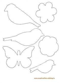 Awesome classroom decoration ideas for grade 3 Felt Crafts, Easter Crafts, Diy And Crafts, Bird Template, Flower Template, Felt Patterns, Applique Patterns, Decoration Creche, Diy For Kids