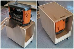 Flip Top Planer Cart. Fits under jointer or miter saw when not in use.