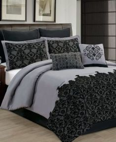 Vivianne Comforter Set - Bed in a Bag - Bed & Bath - Macy's Bedroom Comforter Sets, Queen Comforter Sets, Bedroom Bed, Bedroom Decor, Bed Room, Lace Bedding, Master Bedroom, Creative Beds, Designer Bed Sheets