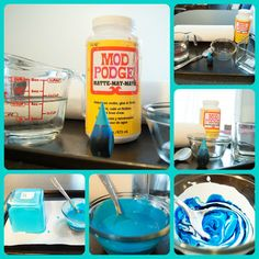 DIY Tinted Glass- a Pinterest Craft | 70 Words Per Minute
