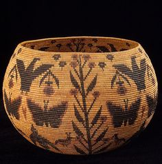 A basket made by Californian  Lucy Telles, now in the Smithsonian  National Museum of the American Indian.