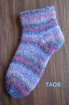free knit slipper pattern - Taos Felted Slippers - Twined Knitting - Crystal Palace Yarns