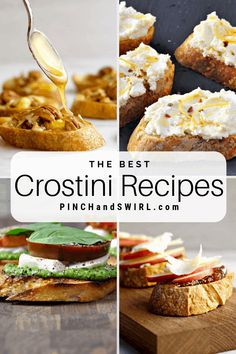Easy and fabulous Crostini Recipes! Of so many appetizers, crostini and bruchetta are always crowd pleasing finger foods. I'll show you how to make them perfect every time!