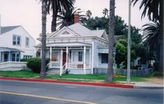 """The """"Top Gun House"""" in Oceanside was used in the 1986 film both as Kelly McGillis' and her character's home. The cottage was built around 1887 by Dr. Henry Graves and is one of the oldest beach cottages in San Diego County. Oceanside California, California Dreamin', Carlsbad California, Top Gun, Camp Pendleton, California History, Beach Cottages, Home And Away, San Diego"""