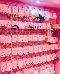 Kawaii Accessories, Kawaii Jewelry, Cute Jewelry, Jewelry Accessories, Pink Aesthetic, Aesthetic Clothes, Kawaii Shop, Cute Earrings, Kawaii Fashion