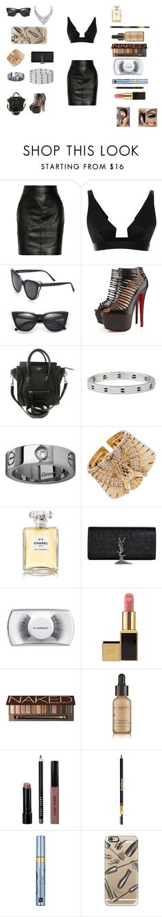 """""""Appearance"""" by kamilnicolas ❤ liked on Polyvore featuring T By Alexander Wang, Cushnie Et Ochs, Illesteva, Christian Louboutin, Cartier, Chanel, Yves Saint Laurent, MAC Cosmetics, Tom Ford and Urban Decay"""