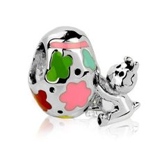 2025-1046 Authentic Chamilia 2014 LTD Jeweled Egg Charm Bead CZ NEW w//BOX!