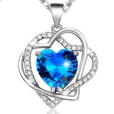 MARENJA Crystal-Womens White Gold plated Necklace with Crossed Heart Pendant engraved I Love You Crystal This is a popular choice from the best products in Jewelry category in Canada. Click below to see its Availability and Price in YOUR country.