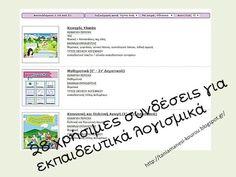 Δραστηριότητες, παιδαγωγικό και εποπτικό υλικό για το Νηπιαγωγείο & το Δημοτικό: Εκπαιδευτικά λογισμικά και εκπαιδευτικά ψηφιακά περιβάλλοντα: 25 χρήσιμες συνδέσεις