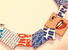 Statement Paper Necklace Pop Art van NewCools op Etsy