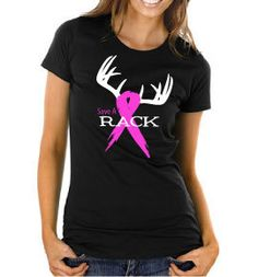 Save A Rack Breast Cancer Awareness T-Shirt - Hunters Supporting Breast Cancer Awareness Month for Ladies or Men, Pink Ribbon & Antlers.  $5 from every sale will be donated to the Susan G. Komen Foundation.  Perfect Gift!