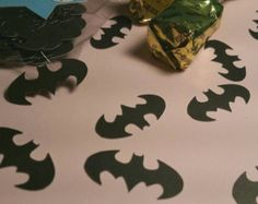 Batman confetti, batman party decorations, DC party decor, super hero decorations, party for boys party for girls, super hero party decor