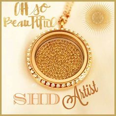 Crystal embellished coin inside a gold locket with Swarovski crystals - so much sparkle! South Hill Designs, Gold Locket, Origami Owl, Swarovski Crystals, Vintage Jewelry, Jewelry Design, Product Launch, Artist, Beautiful