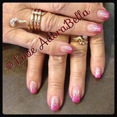 Pink French Glitter Fade #nails #gelnails #gelpolish #glitter #fashion #style #TagsForLikes #cute #beauty #beautiful #instagood #pretty #girl #girls #stylish #sparkles #styles #nailart #art #rosa #love #shiny #french #frenchnails #nailswag #follow #loveadorabella