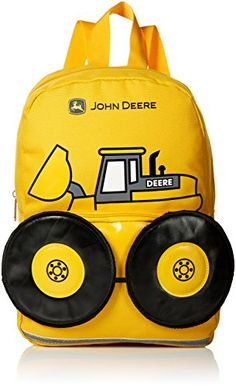 John Deere Boys' Tractor Toddler Backpack Yellow) For Sale Toddler Backpack, Mini Backpack, Travel Backpack, Toddler Boy Gifts, Toddler Boys, Backpack Outfit, Fashion Backpack, Swag Style, Style Hipster